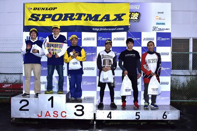 画像: 左から2位・冨永選手、1位・池田選手、3位・吉野選手、4位・市村選手、5位・大瀧選手、6位・小川選手