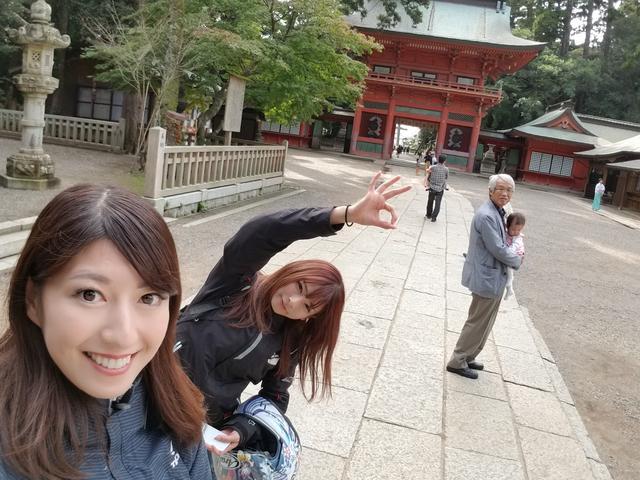 画像2: 鹿島神宮に無事到着(;_;)♡ ほっとしたわ~。