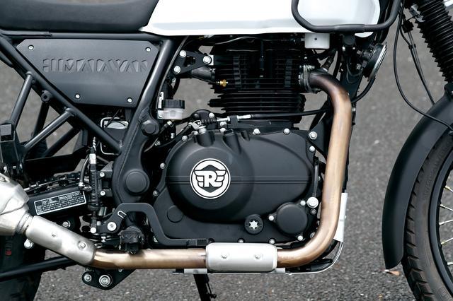 画像: ロイヤルエンフィールド初のOHCシングルは24.5馬力を発揮。味わいのあるパルスとビッグシングルらしいパワー感が楽しめる。