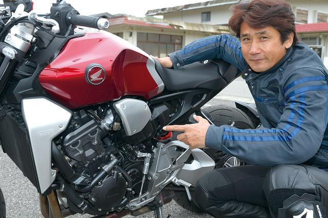 """画像: 伊藤さんが気に入ったのは、エンジンのフィーリングと電子制御の仕上がり。「電子スロットルで一番気になる開け始めと閉じ始めの""""燃え方""""がいいですね。エンジンはフリクションなく綺麗に回ります」"""
