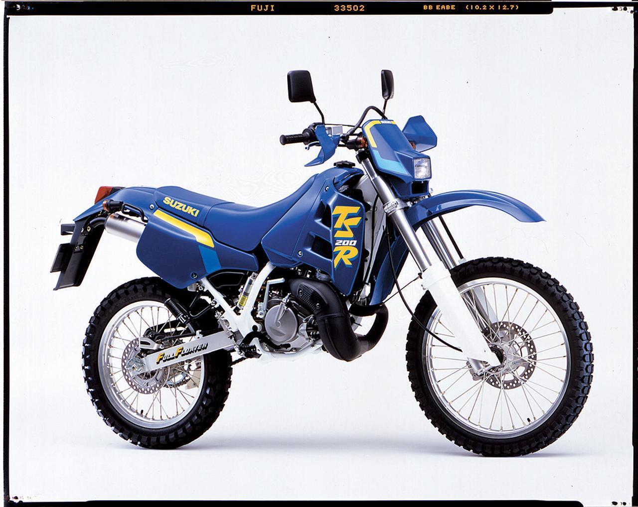 画像: SUZUKI TS200R (1990/2) ●水冷2ストクランクケースリードバルブ単気筒●195cc ●35PS/8500rpm●3.0kg-m/7500rpm●112kg ●3.00-21・4.60-18●39万4000円