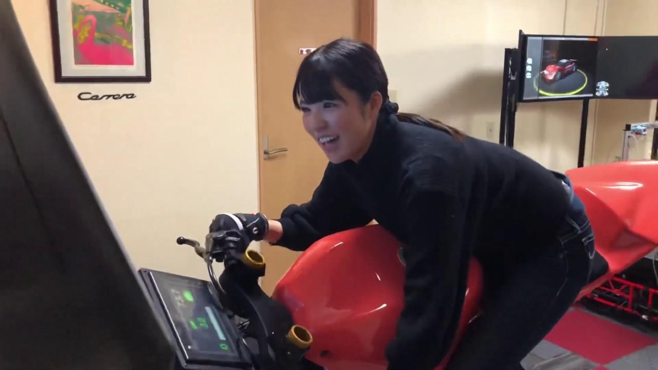 画像: 落下寸前! MotoGP公認のシミュレーターにチャレンジしてきました!(梅本まどか 編) youtu.be