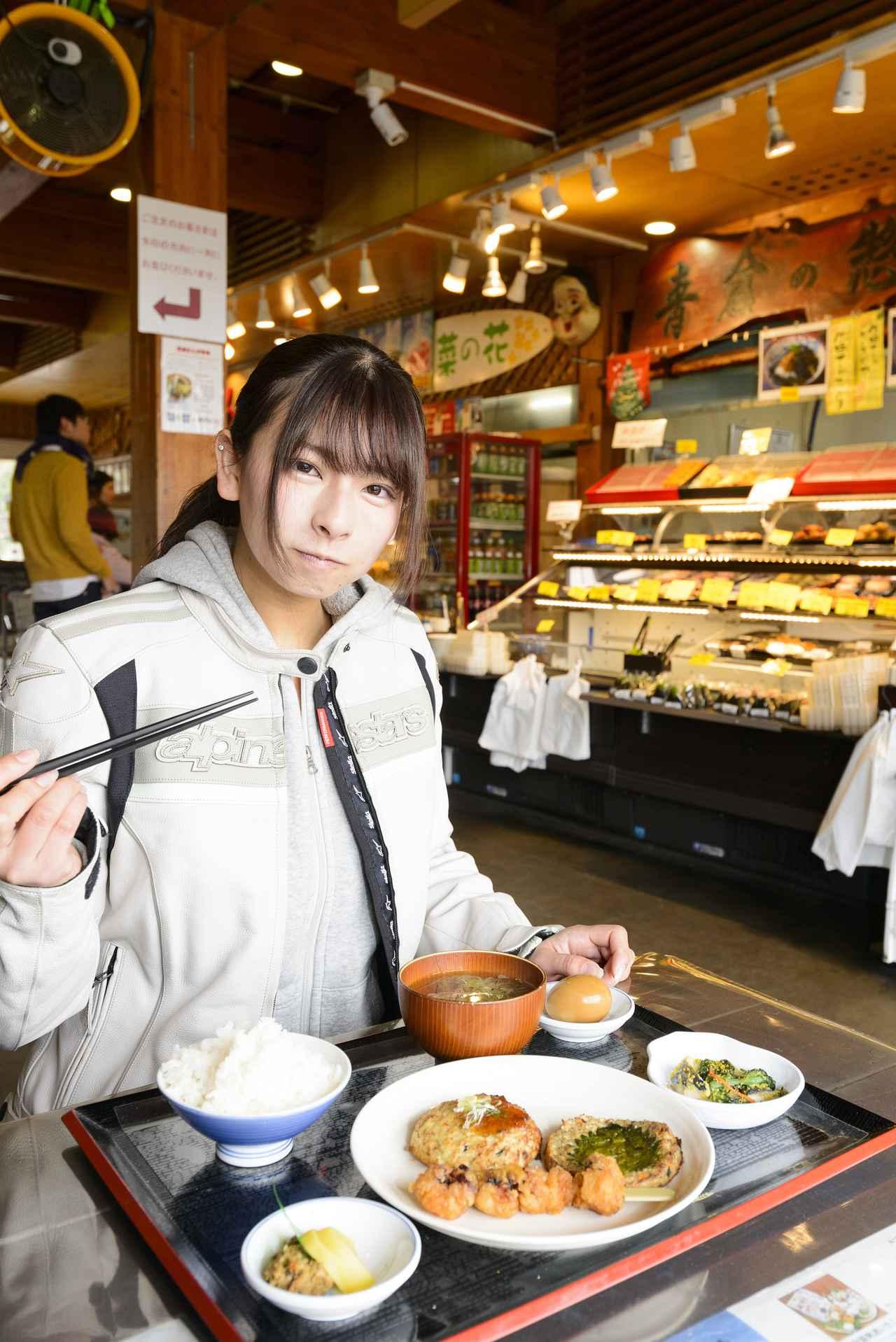 画像: 館山道のハイウエェイオアシス富楽里にて朝食タイム!
