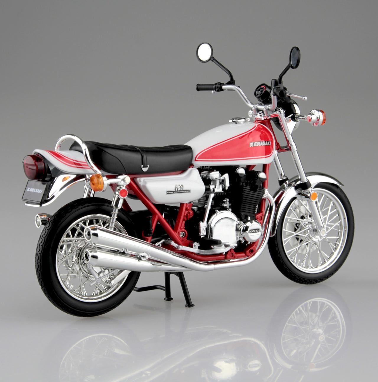 画像3: 1/12 完成品バイク KAWASAKI 750RS(Z2) 赤白カラー