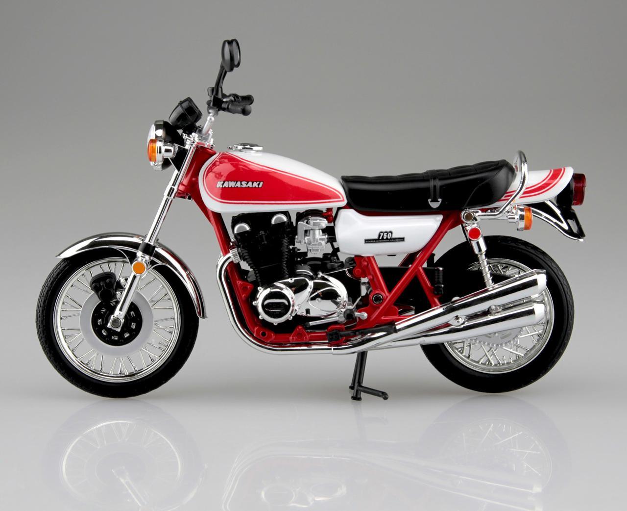 画像1: 1/12 完成品バイク KAWASAKI 750RS(Z2) 赤白カラー