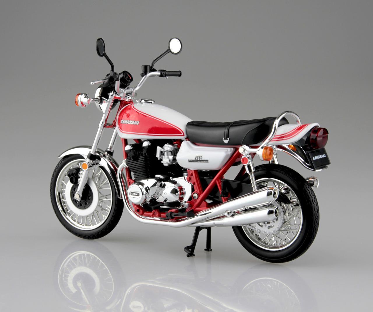 画像2: 1/12 完成品バイク KAWASAKI 750RS(Z2) 赤白カラー