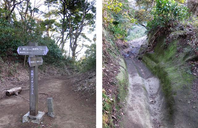 画像: 道中はけっこう険しめです。天園ハイキングコースには鎌倉ならではの「切通し」もあります。