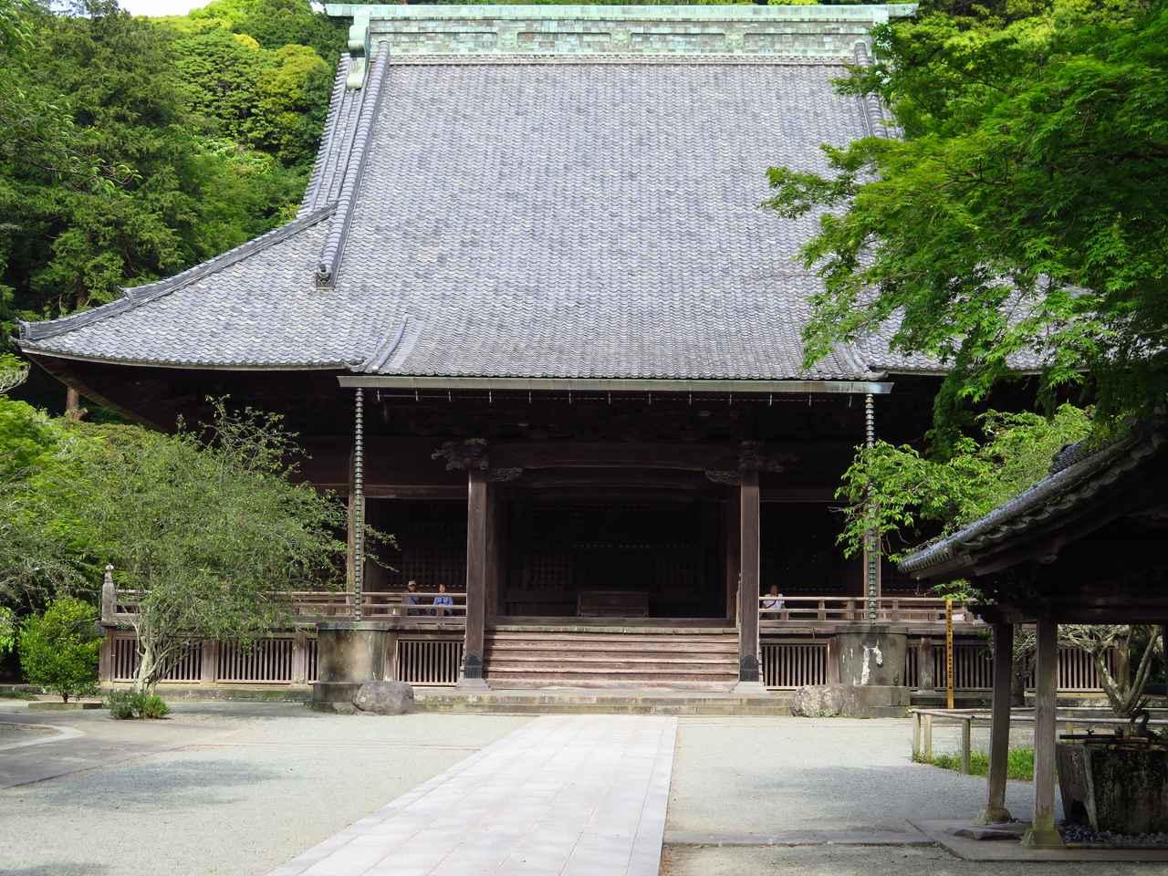 画像: 鎌倉では最大級の規模を誇るお堂、祖師堂。日蓮聖人を祀っています。