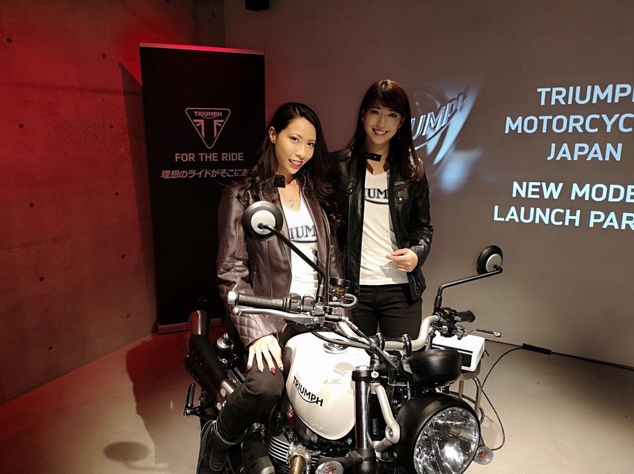 画像: 一緒にモデルをやったカミラちゃん! カミラちゃんもバイク女子で、今大型免許を取りにいってるんだって^^ 早く一緒にツーリング行きたいな~♪