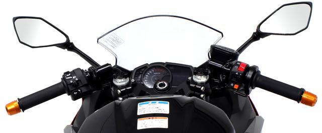 画像: 純正ハンドルよりも垂れ角が付き、前傾姿勢が取りやすくなる!
