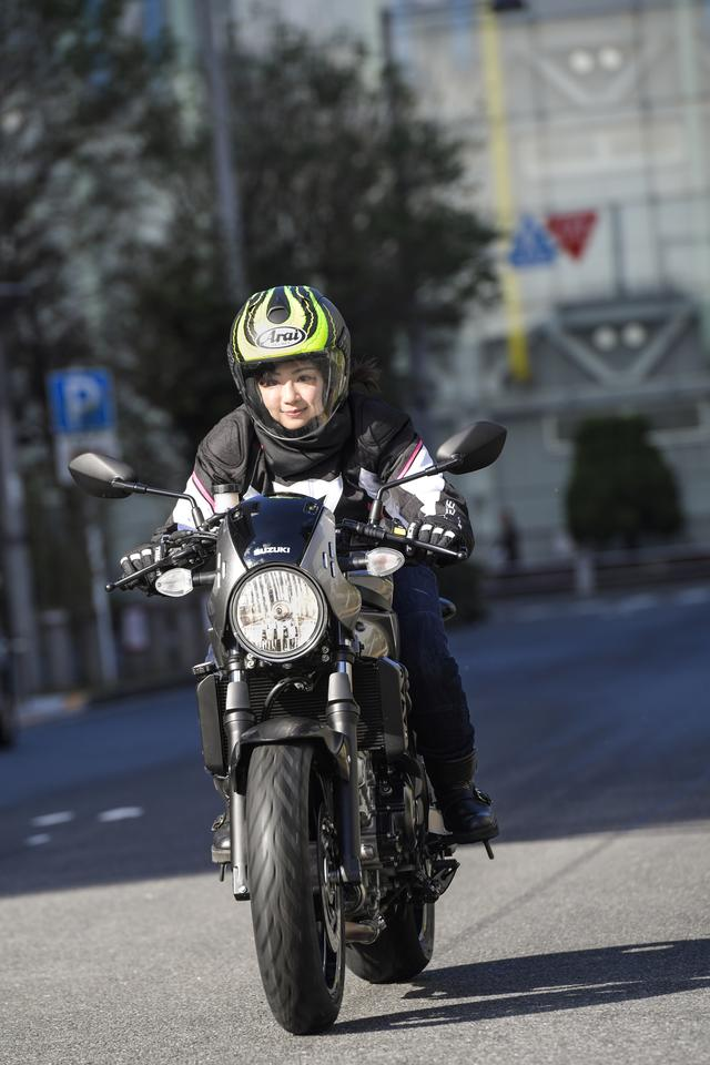 画像: ーー喜んでいただけて何よりです(笑)。お父さんのオススメってことは、なっちゃんの選ぶ大型バイクは、やっぱりジムカーナで使うことが前提なのかな。