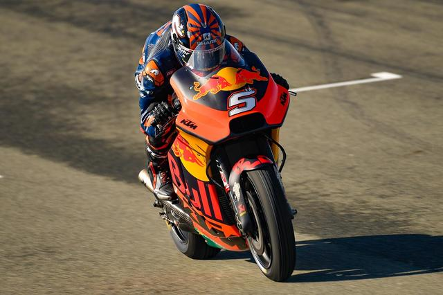 画像: 同じくバレンシアテストでのザルコ+KTM RC16ですね