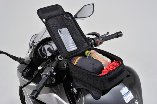 画像: 実際に荷物を詰め込んだ状態がコチラ。ショートツーリングなら十分な容量です。