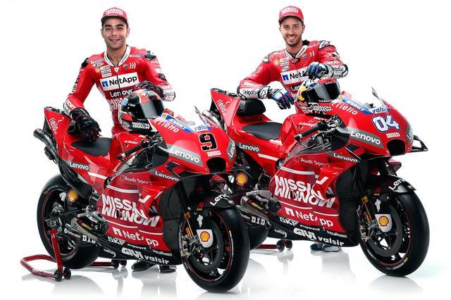 画像1: <MotoGP> ドゥカティ、いちばん乗り! ~2019年マシンとライダーお披露目~