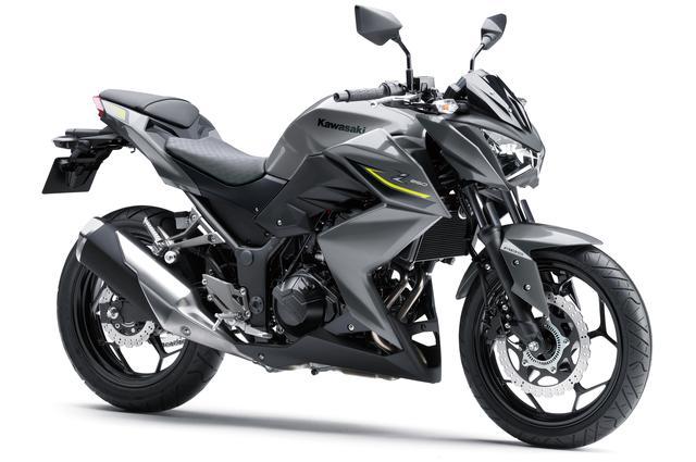 画像: 上が2月15日(金)に発売される「Z250」(税込59万7,240円)。下は2017年から販売されている現行モデルの「Z250 ABS」(税込55万3,500円)です。