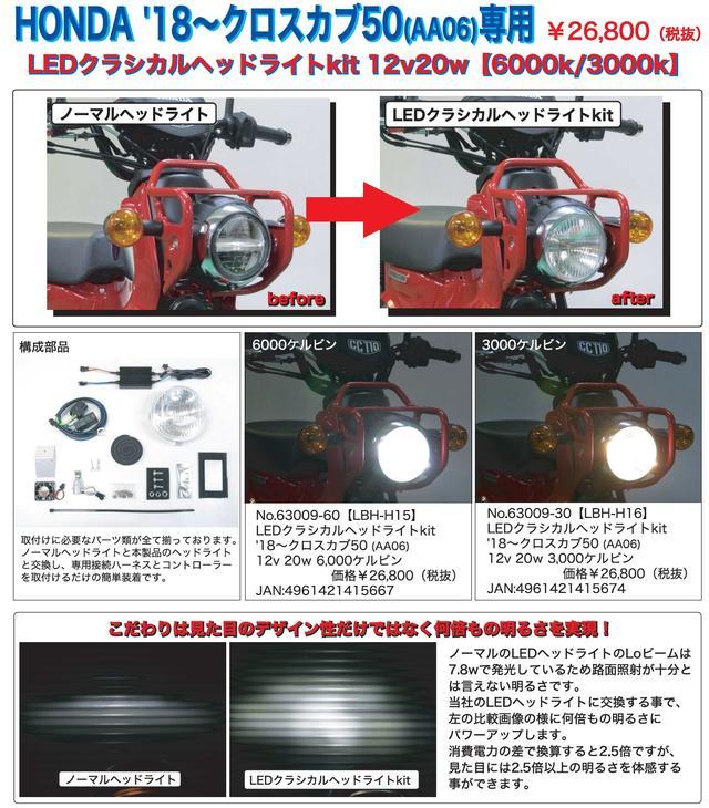 画像2: LEDバルブヘッドライトコンバージョンシリーズにクロスカブ50用