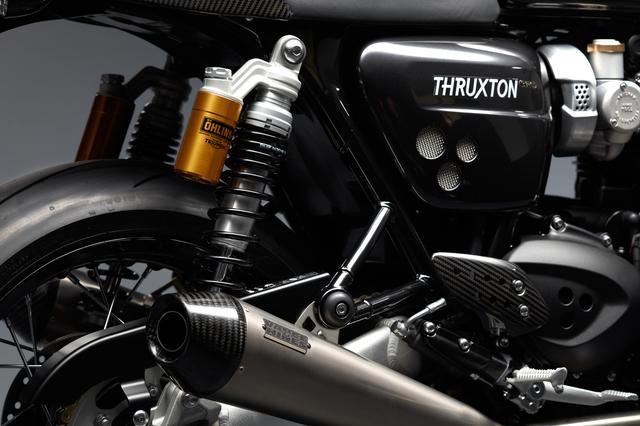 画像: オーリンズ製フルアジャスタブルサスペンション、カーボンファイバー製のエンドキャップ付きバンス&ハインズ製チタンサイレンサーを採用。