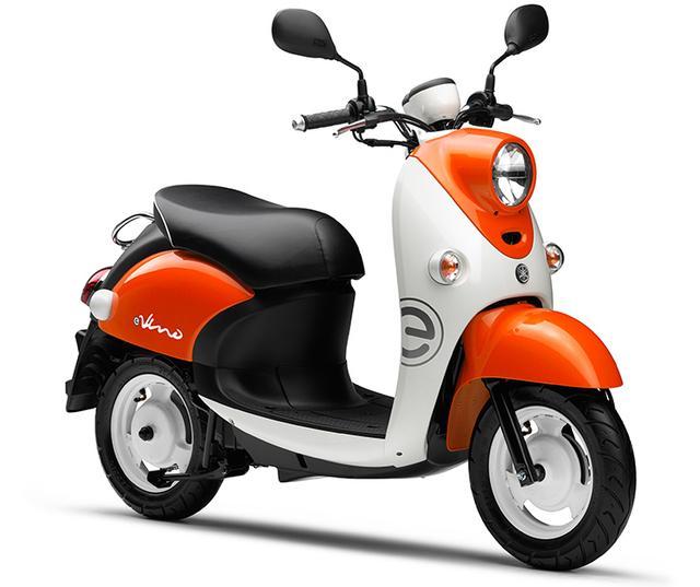 画像: こちらがベースとなった電動スクーター、ヤマハ「E-Vino」。メーカー希望小売価格は23万6,520円(税込)です。