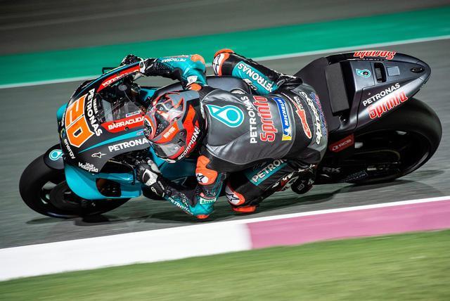 画像: 2日目に続いてトップグループにステイしたクアルタラロ MotoGPルーキーなのにねー!