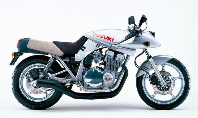 画像: 「ケルンの衝撃」とも言われる1980年のケルンショーで発表されたターゲットデザインによるプロトタイプ【ED2】。この1台でカタナの方向性が周知された。ED1はGS650Gを目指す。