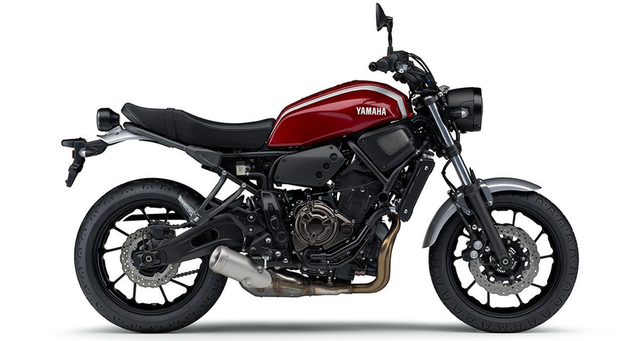 画像10: ヤマハ「XSR700 ABS」の2019年モデルは、新色のマットブルーを追加して3月28日リリース!