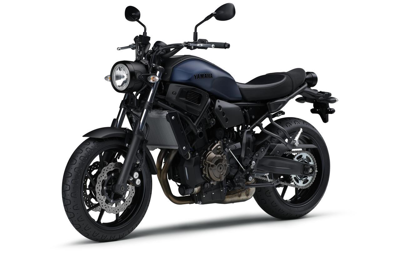 画像1: ヤマハ「XSR700 ABS」の2019年モデルは、新色のマットブルーを追加して3月28日リリース!