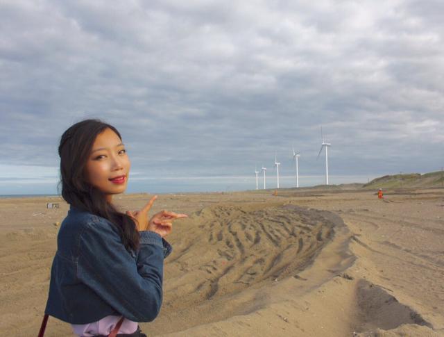 画像: 手前にも奥にもずっと続いていた風車/神栖市