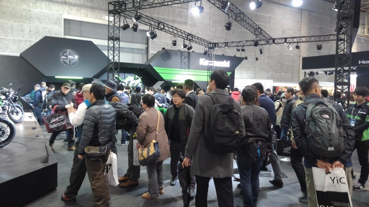 画像1: カワサキブースはまたがりOKの車両がいっぱい!【大阪モーターサイクルショー2019】