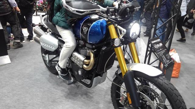 画像: トライアンフブースでは3月16日発売開始のスクランブラー1200シリーズも登場!【大阪モーターサイクルショー2019】 - webオートバイ