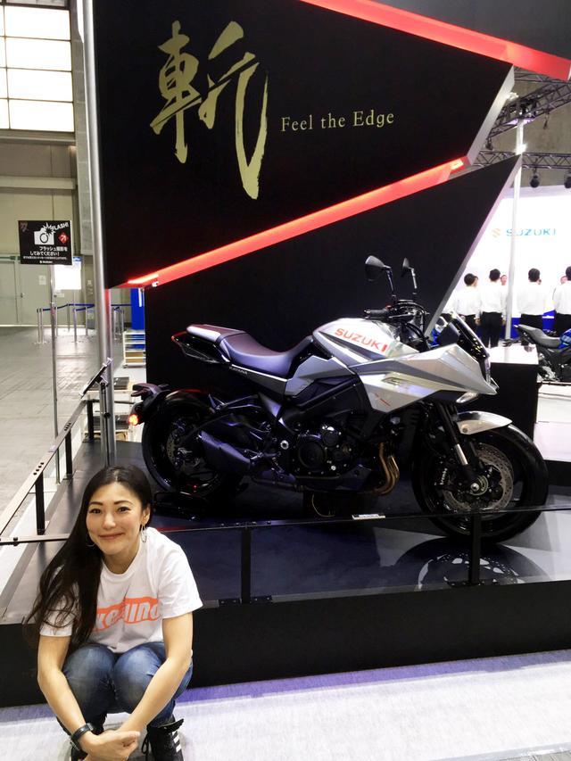 画像2: 大注目のスズキさんブースへ。日本初公開の新型KATANA。そして「斬」!!