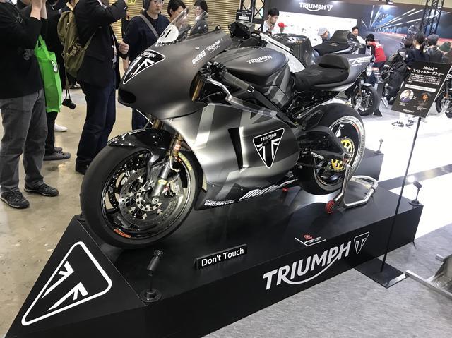 画像1: Moto2マシンも展示!