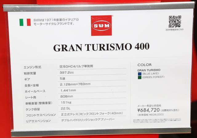 画像2: GRAN TURISMO 400