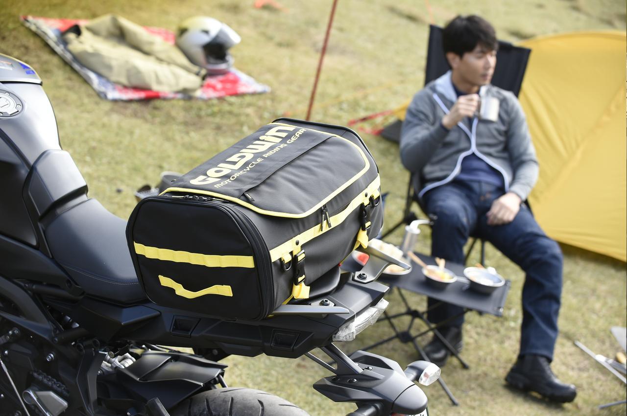 画像2: 東京モーターサイクルショー2019で発見したゴールドウインの新作バッグがまた流行りそう!