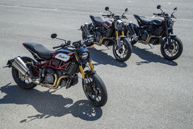画像: シリーズは3機種。手前からFTR1200S Race Replica/FTR1200S/FTR1200