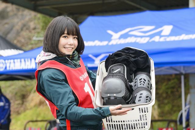 画像: プロテクターも充実しています。肘・ボディ・膝、サイズも豊富。プロテクターを内蔵しているジャケットをお持ちじゃなくても安心して受講できます。