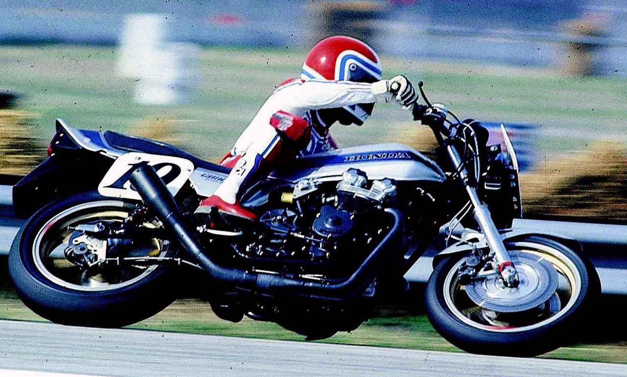 画像: 80~81年のAMAスーパーバイクでチャンピオンは取れなかったが、82年、F・スペンサーはデイトナでの初優勝をCB-Fで果たす。