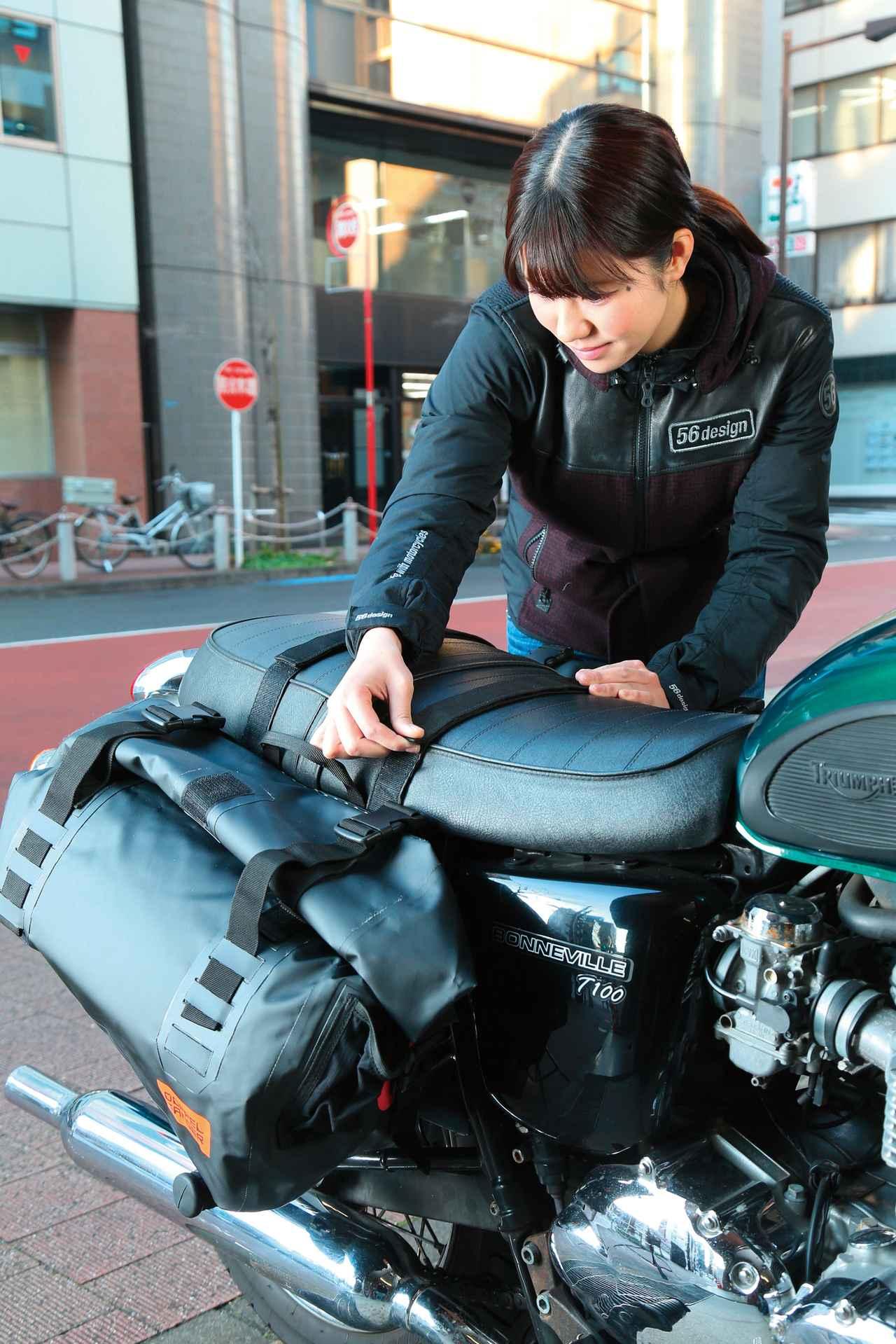 Images : 3番目の画像 - 「ツーリングキャンパー必見!『DOPPELGANGER ターポリンサイドバッグ DBT393-BK』#GEARS TEST」のアルバム - webオートバイ