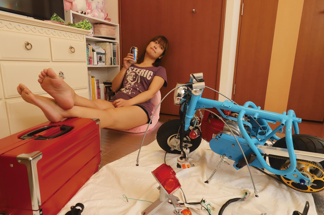 "Images : 8番目の画像 - 「世界一小さくてかわいいキットバイク""仔猿""を組み立ててみよう‼「仔猿遊び・その1(全3回)」」のアルバム - webオートバイ"