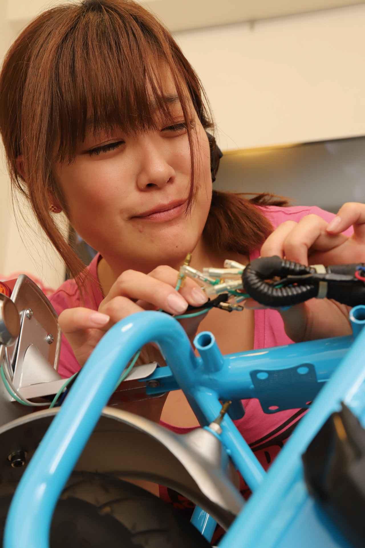 画像2: 世界最小のキットバイク仔猿完成!