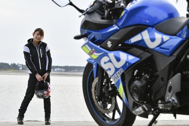 画像7: 葉月美優×SUZUKI GSX250R【オートバイ女子部のフォトアルバム】
