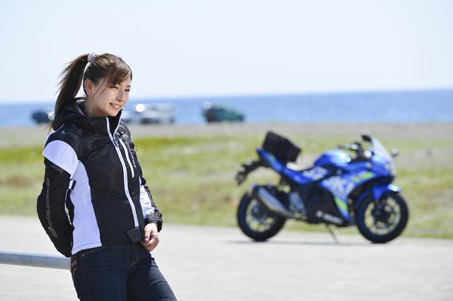 画像2: 葉月美優×SUZUKI GSX250R【オートバイ女子部のフォトアルバム】