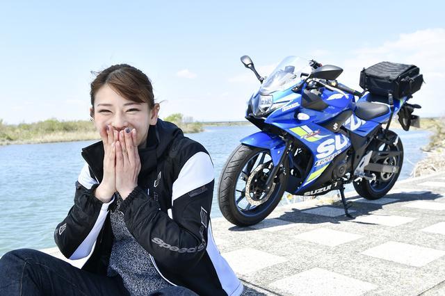 画像4: 葉月美優×SUZUKI GSX250R【オートバイ女子部のフォトアルバム】