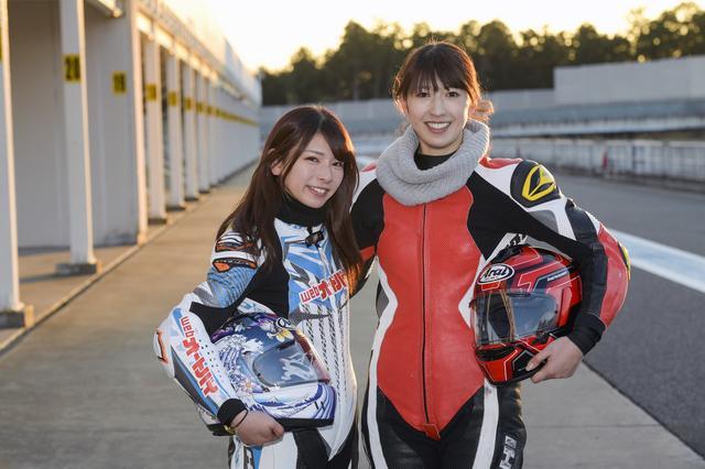 画像: 葉月美優さん(左)、大関さおりさん(右)。2人とも、まだまだ初心者ですが、一緒に上手くなりましょう!
