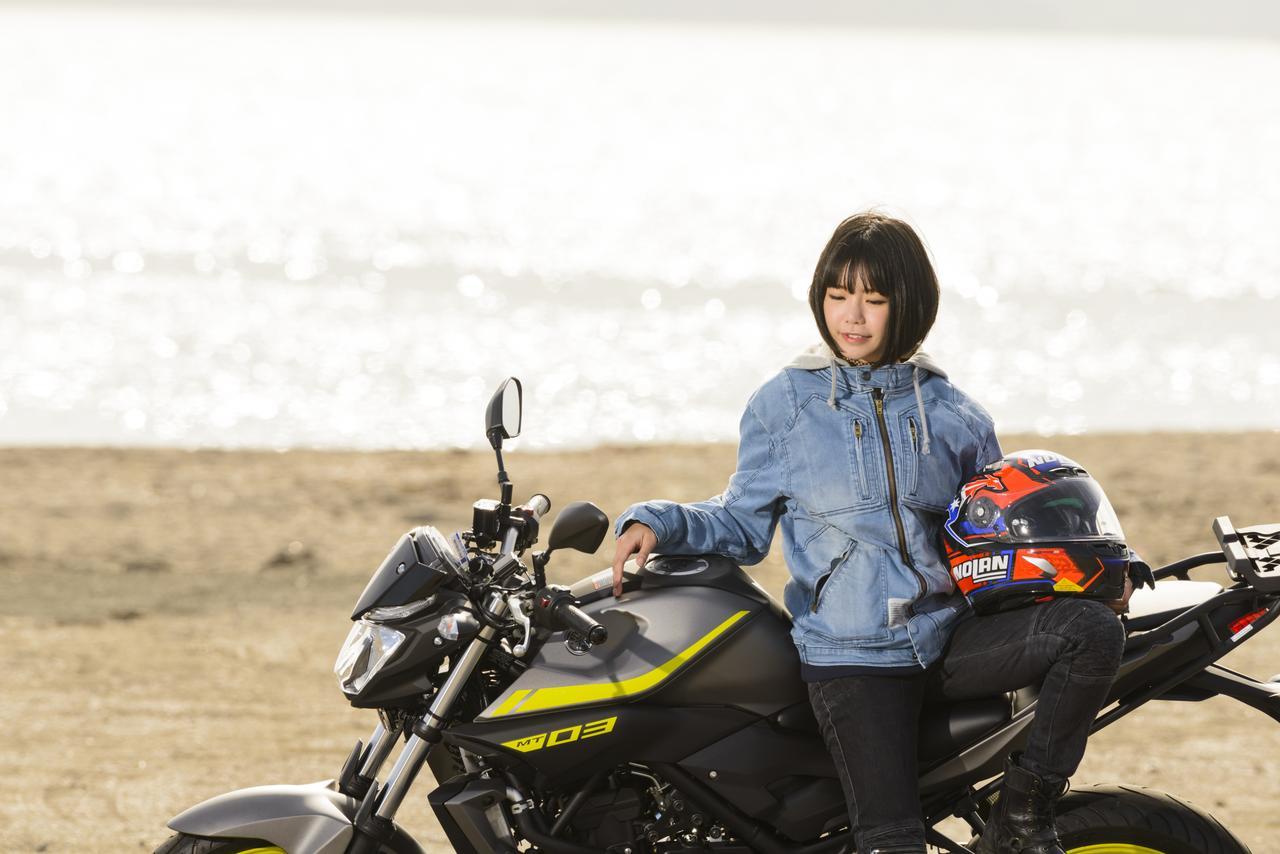 画像2: 美環×YAMAHA MT-03【オートバイ女子部のフォトアルバム】