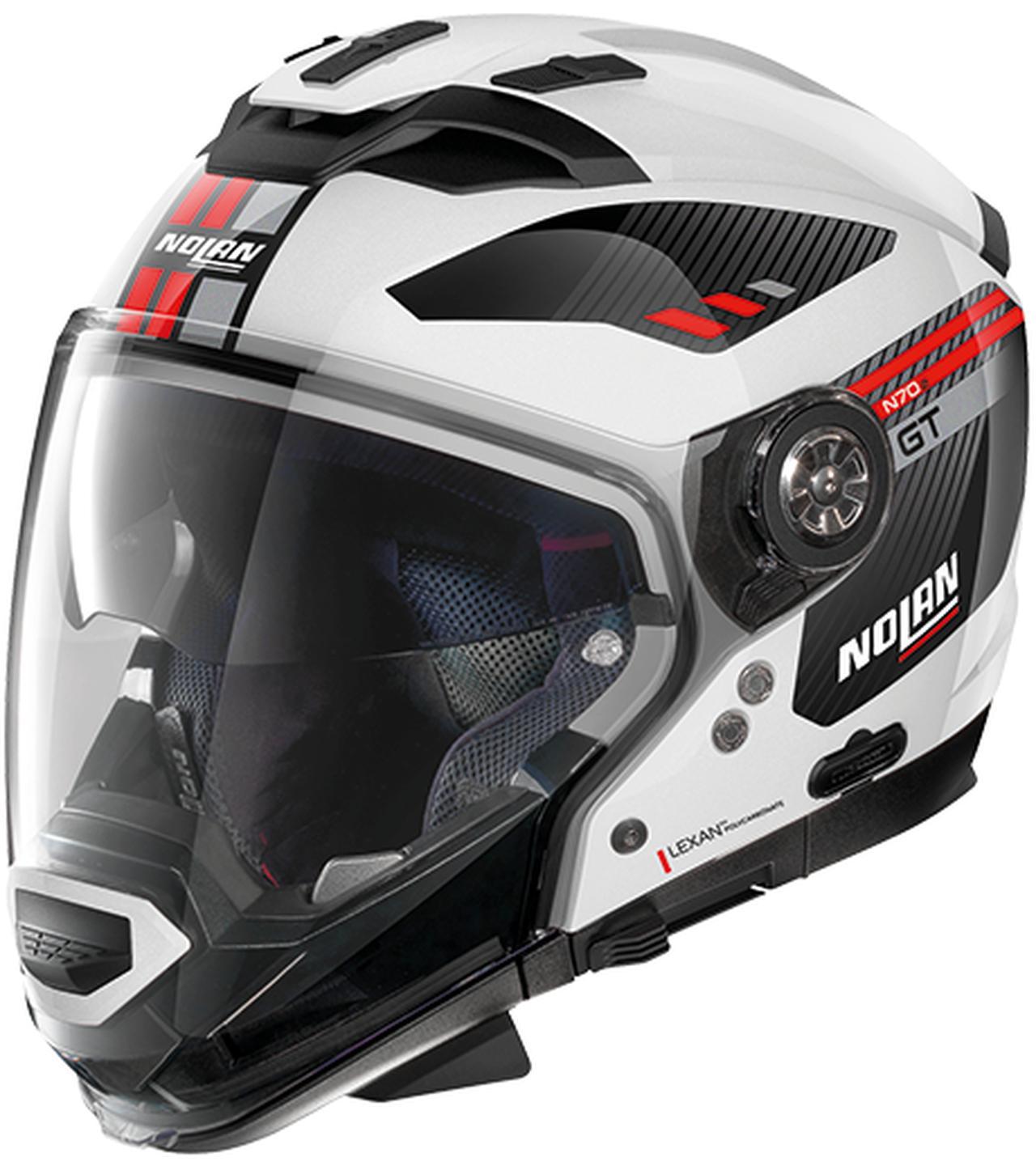画像5: インナーサンバイザー搭載、帽体は超高強度軽量素材LEXANポリカーボネートを採用!