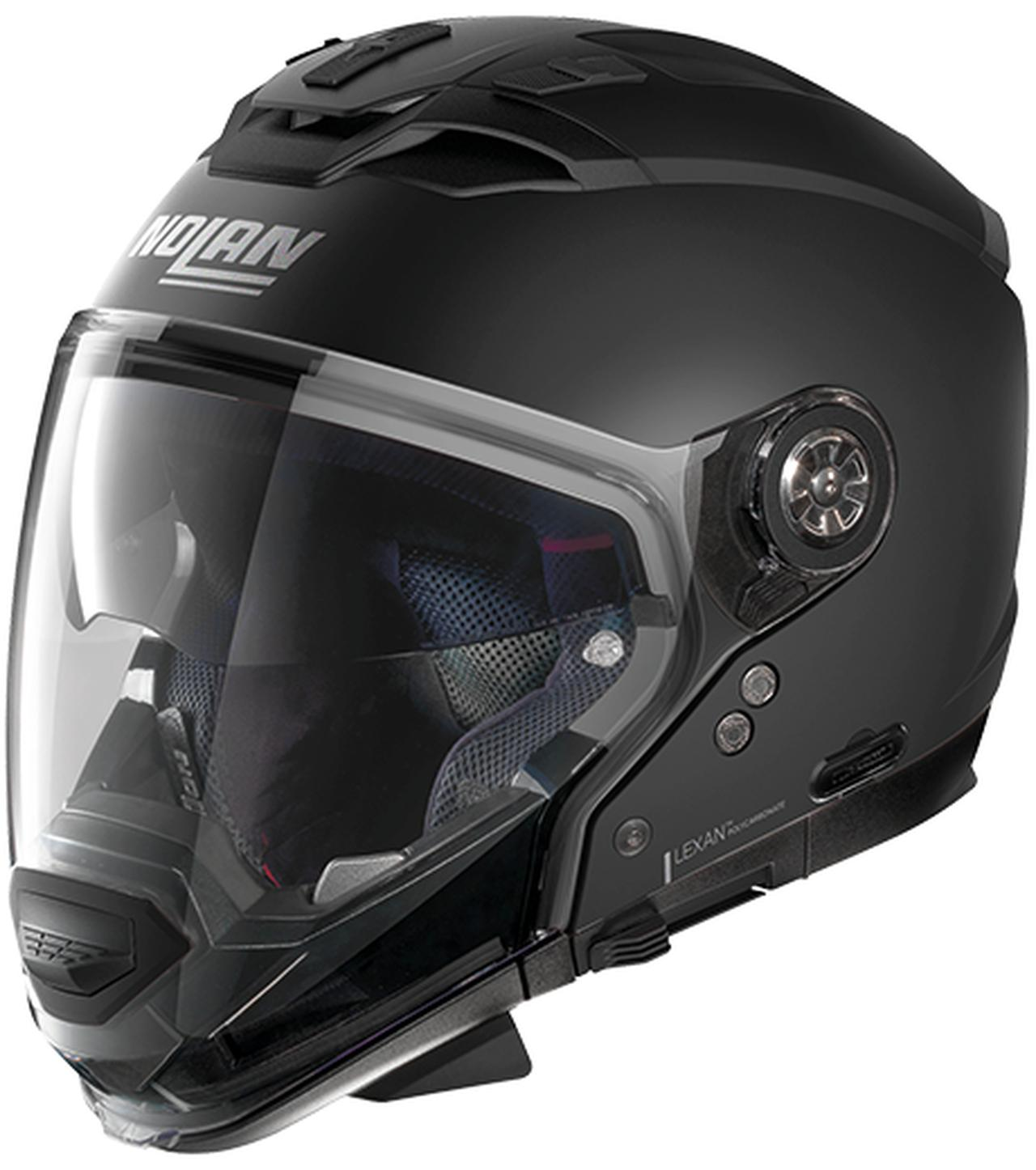 画像1: インナーサンバイザー搭載、帽体は超高強度軽量素材LEXANポリカーボネートを採用!