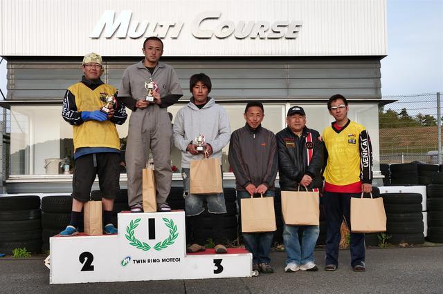 画像: 左から2位・江間 聡選手、1位・関根 健選手、3位・加藤雅也選手、4位・中川克己選手、5位・和田信行選手、6位・濱田 令選手