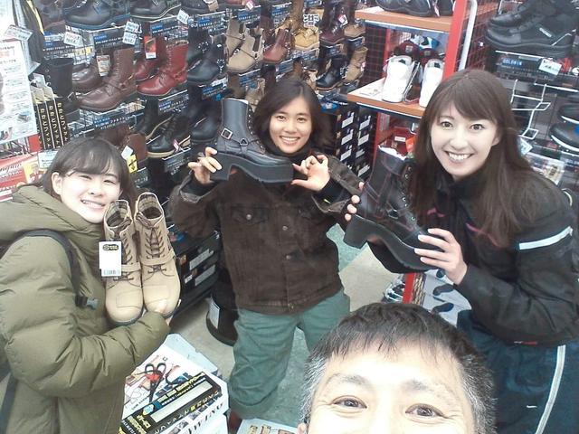 画像14: 今回のツーリング!1番の目的は「サラサちゃんのブーツを買いに行こう♪」