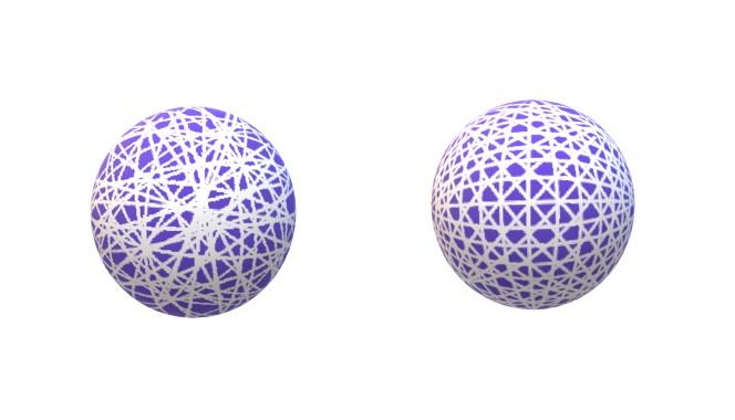 画像: 左:一般的なカーボン/右:新型LS2のカーボン形状