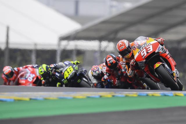 画像: レースはマルケスが終始レースをリード ジャック・ミラーが何度かマルケスに向かっていきました